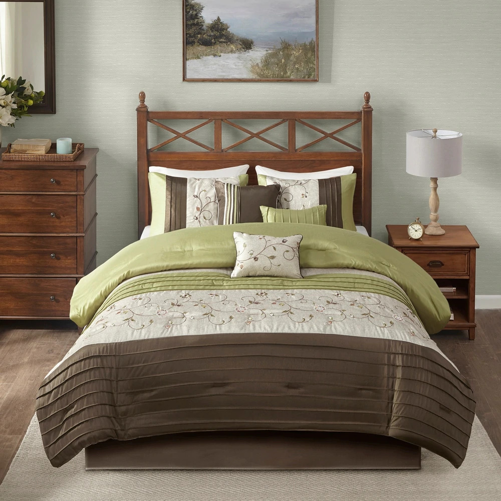 Outrageous Green And Brown Bedroom: BEAUTIFUL MODERN ELEGANT CHIC SAGE GREEN IVORY BROWN