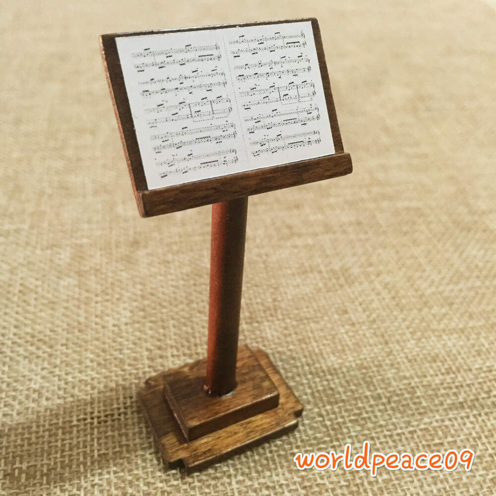Dollhouse Miniature Music Art Wooden Music-Stand Podium 1 ...