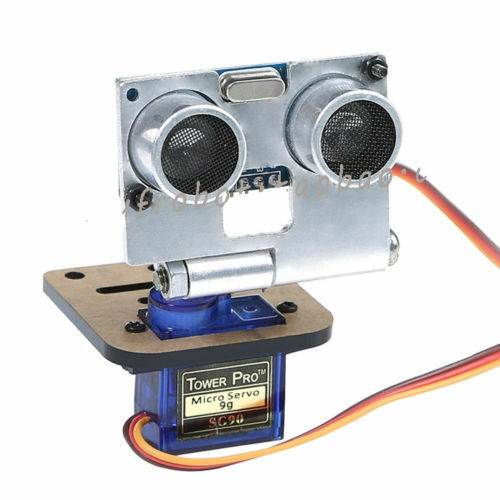 Silver hc sr ultrasonic sensor kit with servo and rack
