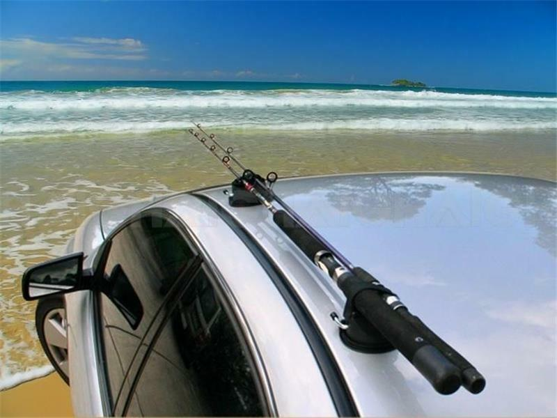 Fishing Rod Holders With Suction Cups Attach To Roof Car