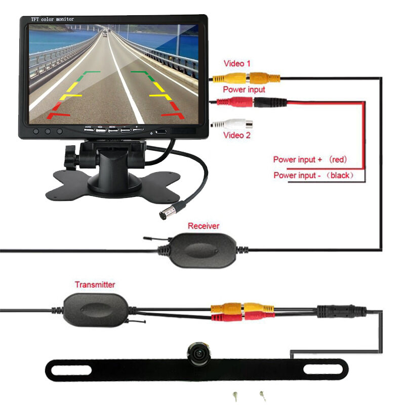 7 u0026quot  tft lcd monitor   wireless car rear view backup camera