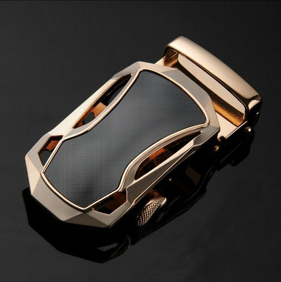 Luxury Men's Gold Alloy Sports Car Strap Belt Buckle