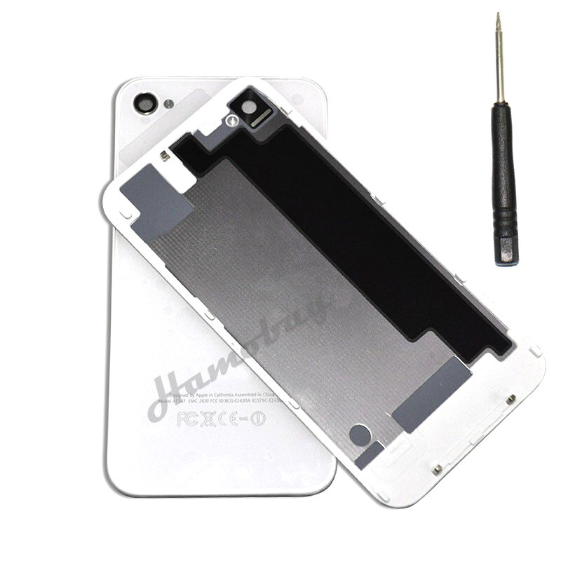 replace battery iphone 4s new glass replacement back rear battery cover for apple 1582