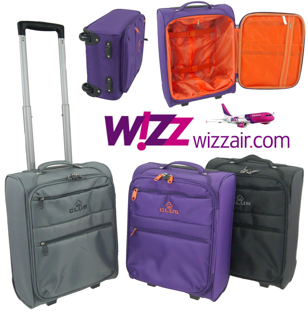 Wizz Air Cabin Case Hand Luggage Trolley Bag Lightweight fits in ...