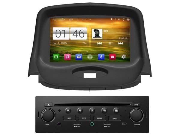 autoradio dvd gps navi android 4 4 4 bt dab radio player peugeot 206 m085 ebay. Black Bedroom Furniture Sets. Home Design Ideas