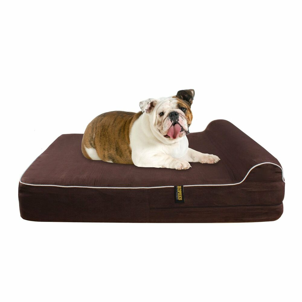 dog bed orthopedic memory foam kopeks waterproof pillow. Black Bedroom Furniture Sets. Home Design Ideas