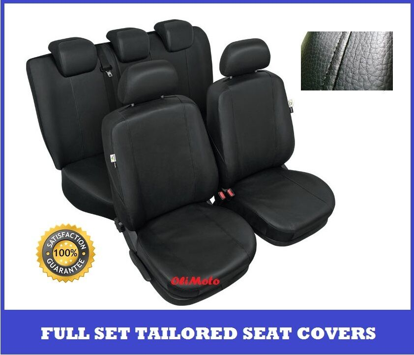 Ford C Max Leather Seats: Black Eco Leather Tailored Full Set Seat Covers For FORD