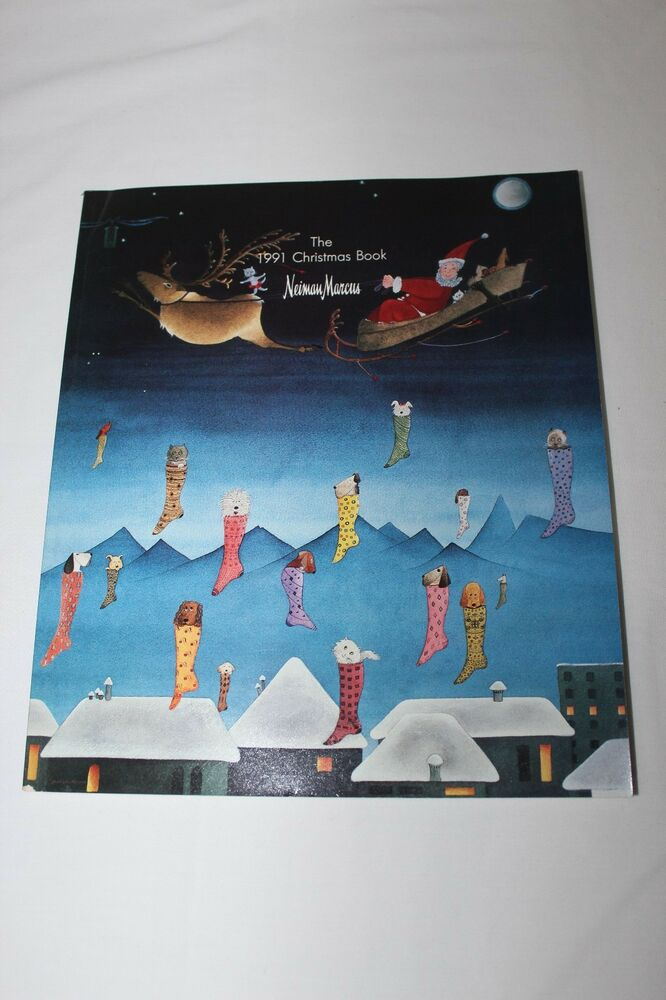 Neiman marcus christmas catalog vintage 1991 book hoiday for Neiman marcus christmas cards