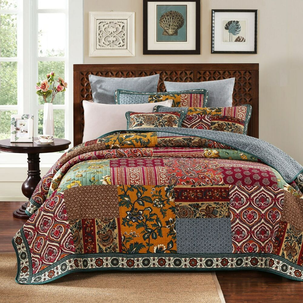 DaDa Bedding Elegance Floral Paisley Bohemian Patchwork