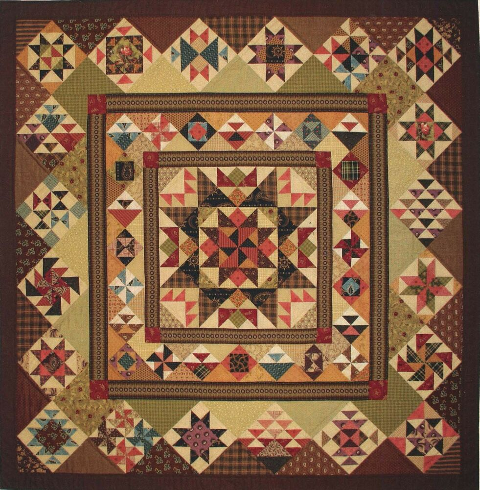 Folk Art Quilt Ideas : Aunt Lucy s Medallion Quilt Pattern by Lori Smith eBay