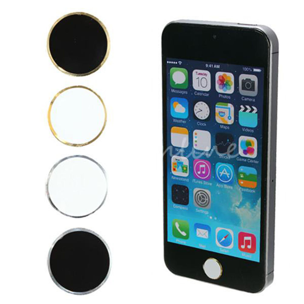 home button for iphone 2x metal home button sticker for iphone 6 5s 5c 4 4s 3g 5301