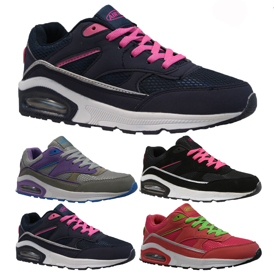 LADIES RUNNING TRAINERS NEW WOMENS SHOCK ABSORBING FITNESS ...