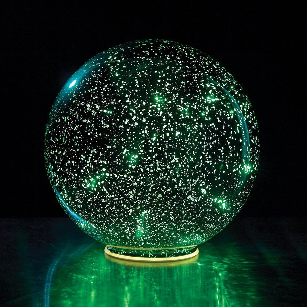 Lighted mercury glass ball sphere green ebay