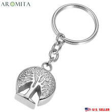 3D Tree of Life Cremation Jewelry Keepsake Memorial Ashes Urn Holder Key Chain