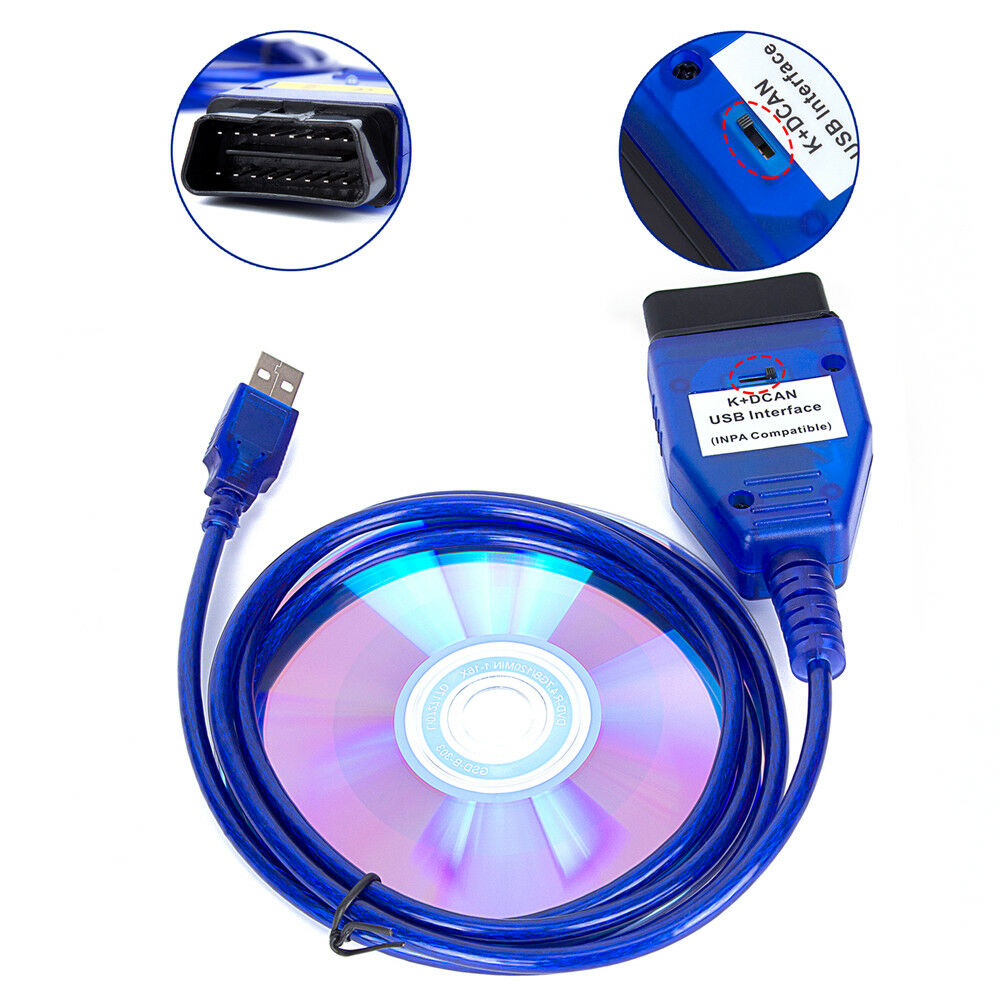 Bmw Usb Obd K Dcan Diagnostic Cable Switched Inpa Dis