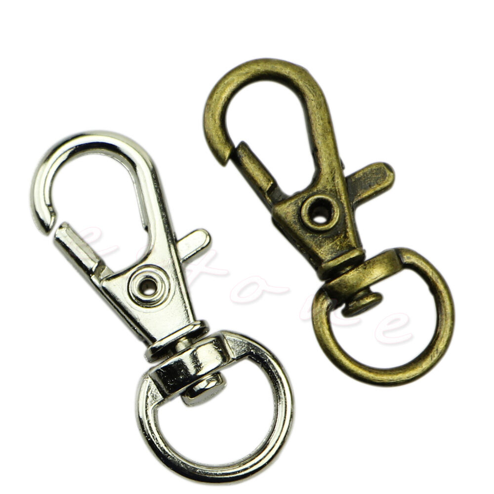 10pcs metal lanyard hook swivel snap lobster clasp clips for S hooks for crafts