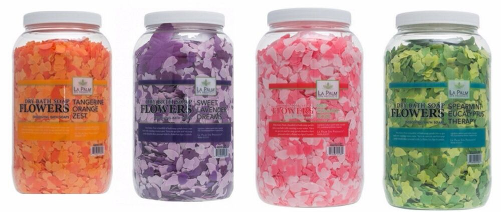 La Palm Spa Pedicure Bath Flowers Petals Soap 1 Gallon