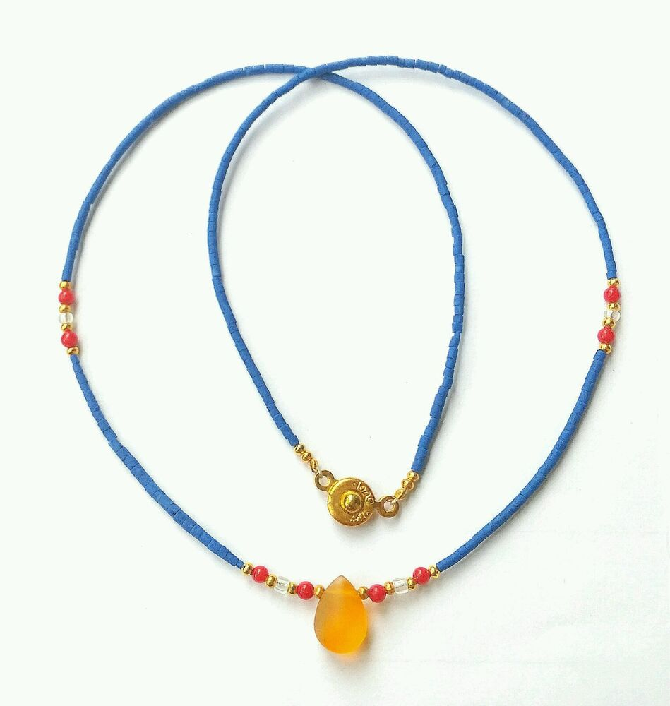 Afghan Natural Lapis Lazuli Tiny Seed Beads Necklace with ...