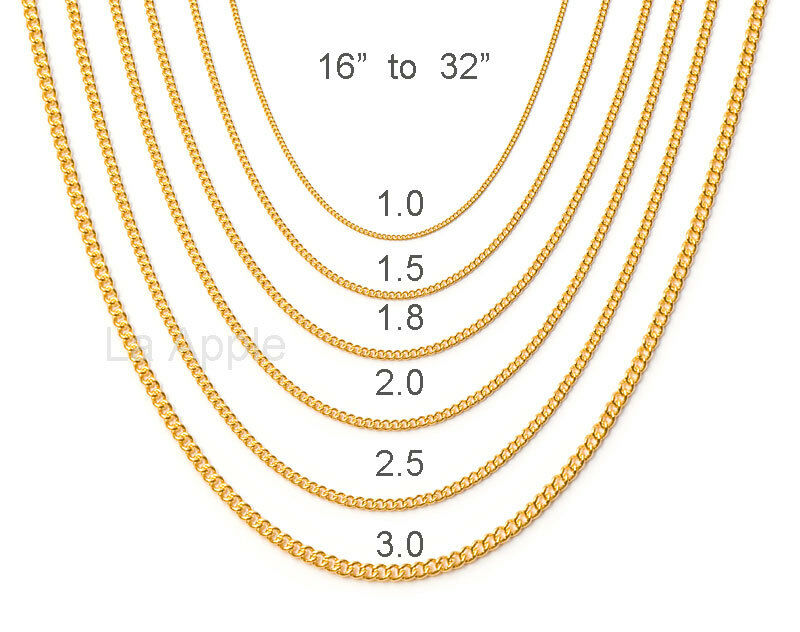 "16""-32"" Womens Gold Plated Stainless Steel Gold Chain ..."