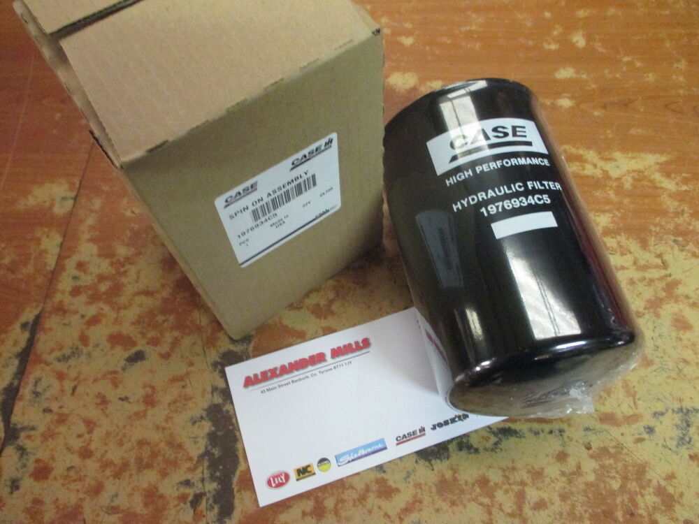 Tractor Hydraulic Oil Filter Lookup : Case ih tractor genuine hydraulic filter spin on maxxum