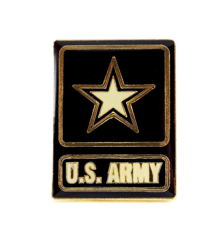 Wholesale Lot Of 12 Army Insignia With Star Lapel Hat Pin