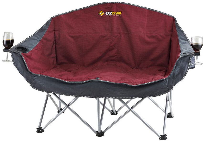 OZTRAIL MOON CHAIR DOUBLE 240KG LIMIT PICNIC CAMP OUTDOOR SEAT PORTABLE