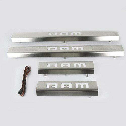 Opar Led 4 Door Stainless Scuff Plate Door Sill Guard For