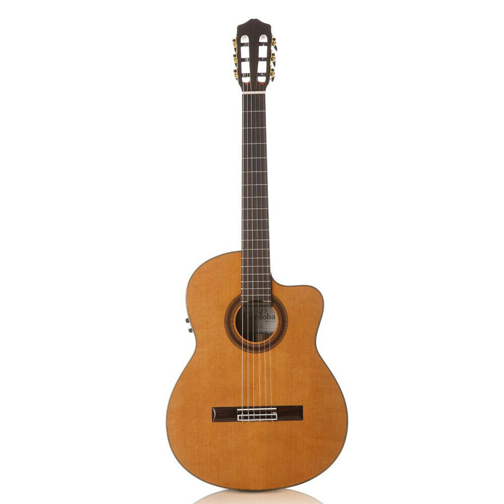 cordoba c7 ce cd in acoustic electric nylon string classical guitar nat bag ebay. Black Bedroom Furniture Sets. Home Design Ideas