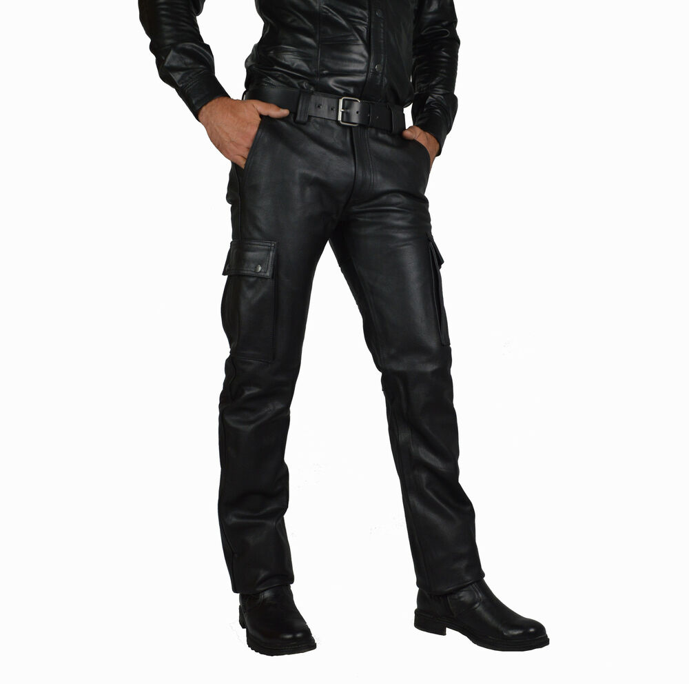awanstar cargo leather trousers cuir pantalon gay pants. Black Bedroom Furniture Sets. Home Design Ideas