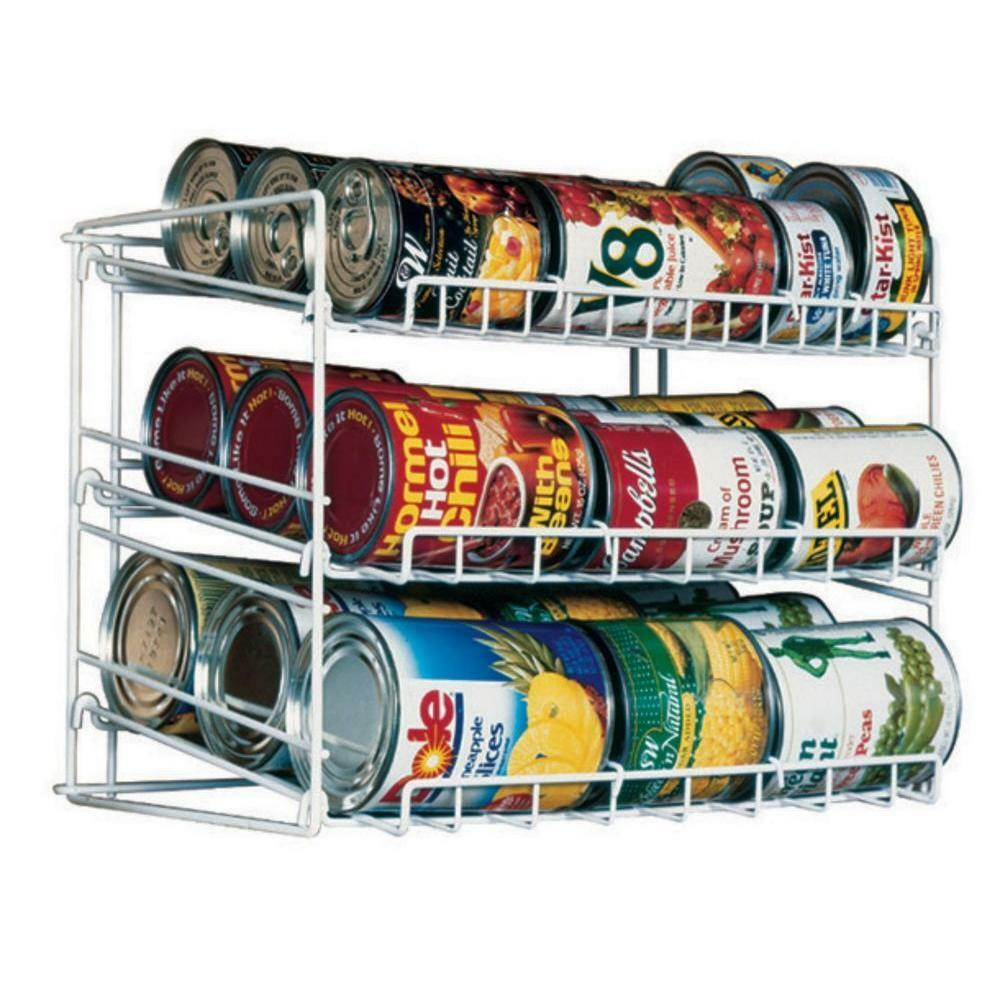 Pantry Shelves For Cans: Pantry Organizer Can Storage Rack Shelf Kitchen Cabinet