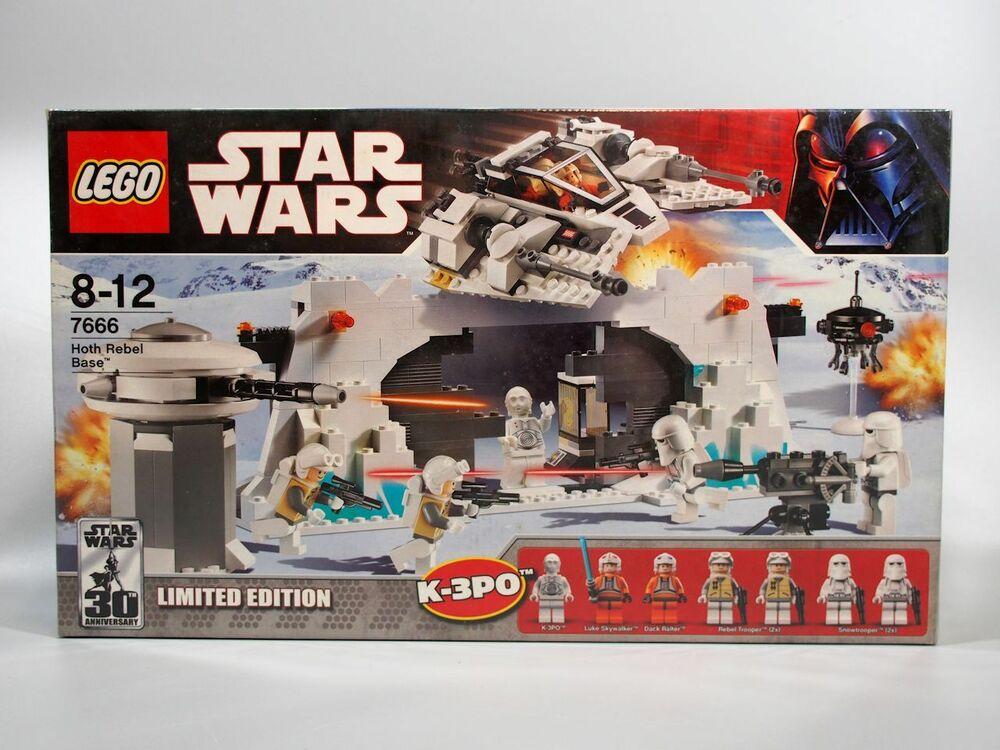 lego 7666 star wars hoth rebel base new sealed. Black Bedroom Furniture Sets. Home Design Ideas