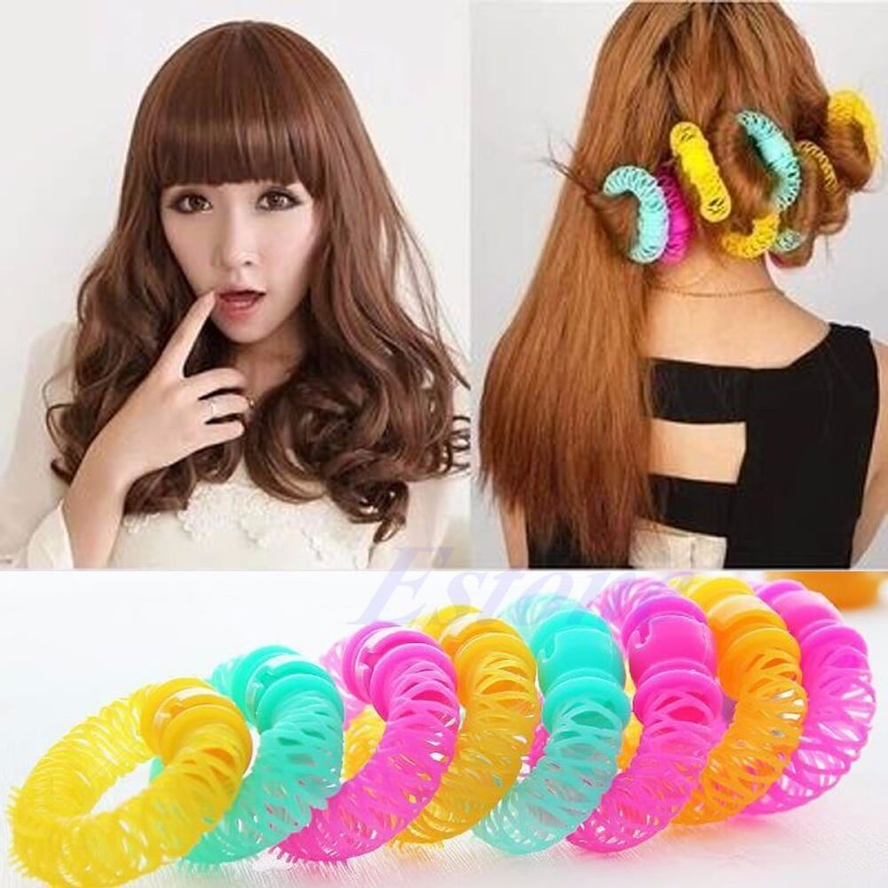 how to style hair with rollers 6pcs 8pcs hairdress magic bendy hair styling roller curler 4146