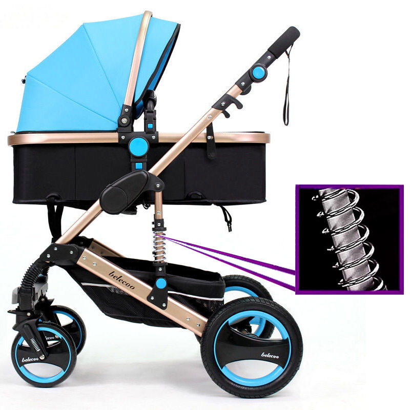 new belecoo baby carriage foldable travel system stroller buggy pushchair pram ebay. Black Bedroom Furniture Sets. Home Design Ideas
