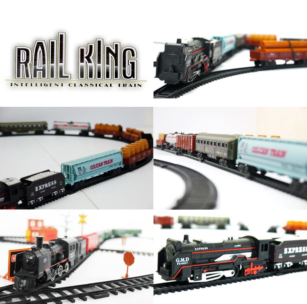Kids toy rail king classic train track set real fun game for Classic uk house tracks