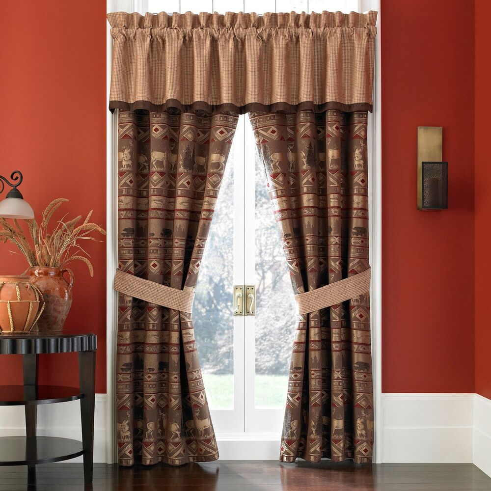 Croscill deer bear pondera drapes curtain 4 pc set lined for Where to buy drapes