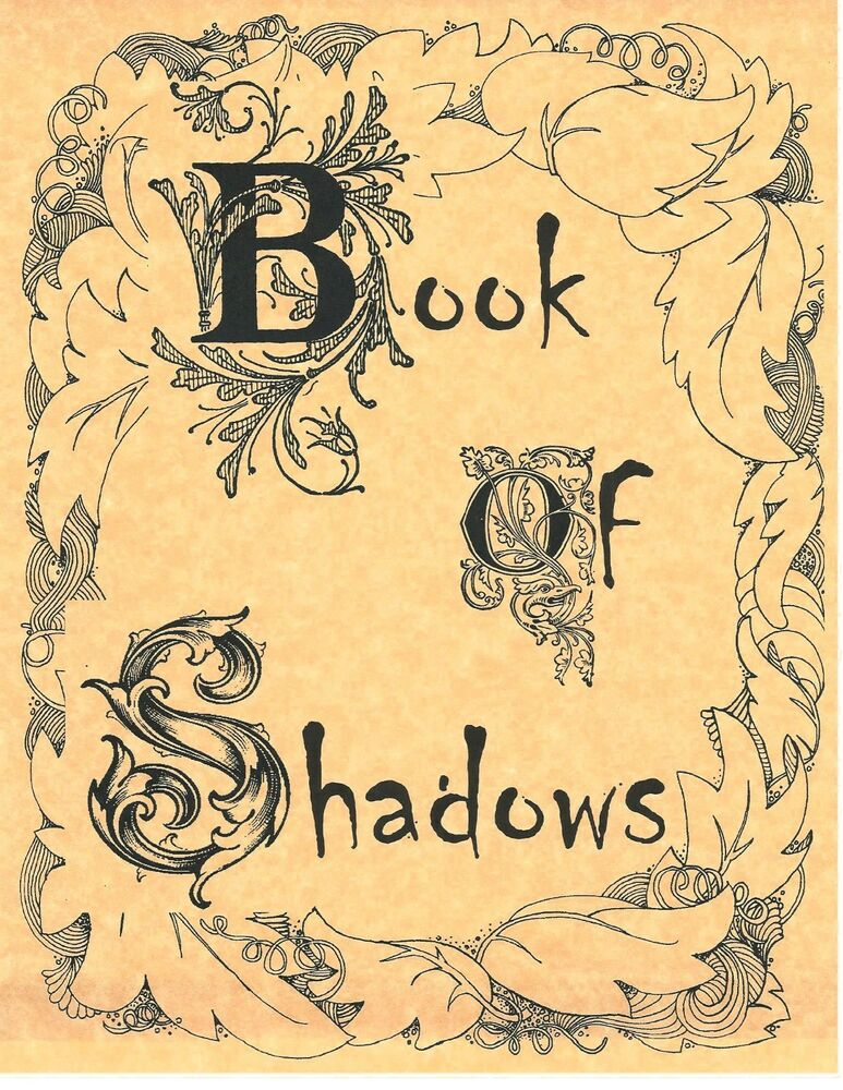 Book Of Shadows Cover Diy : Book of shadows spell pages cover page wicca