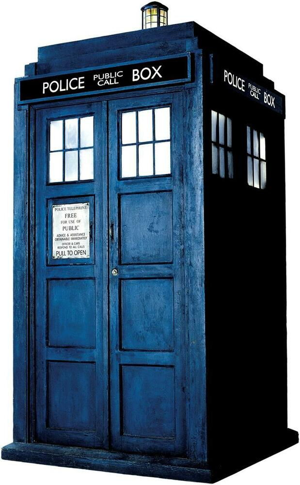 Dr who tardis phone booth decal wall sticker home decor for Decoration porte tardis