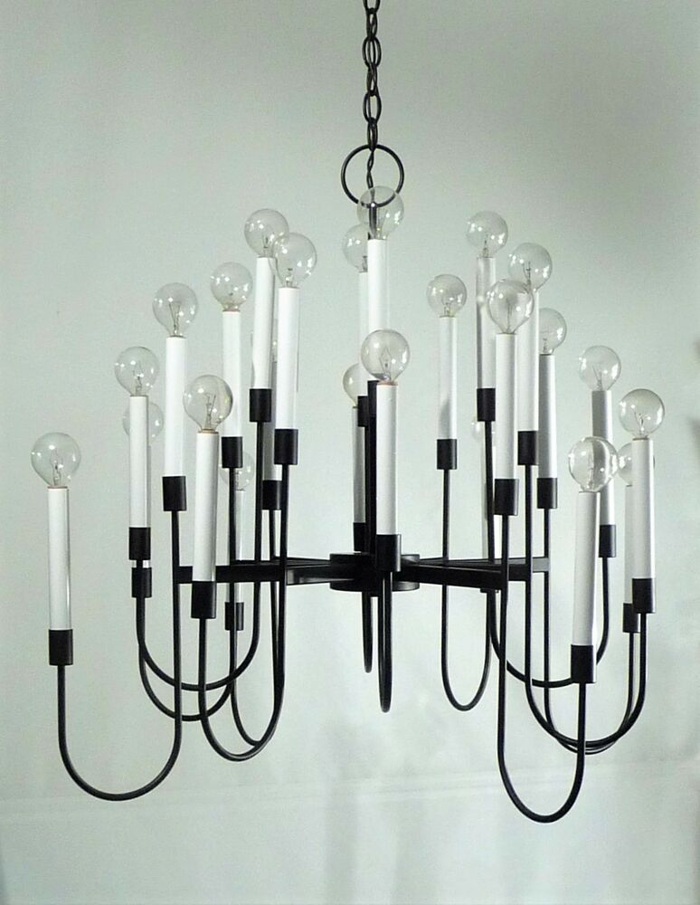 vintage lightolier 24 arm chandelier sciolari mid century. Black Bedroom Furniture Sets. Home Design Ideas