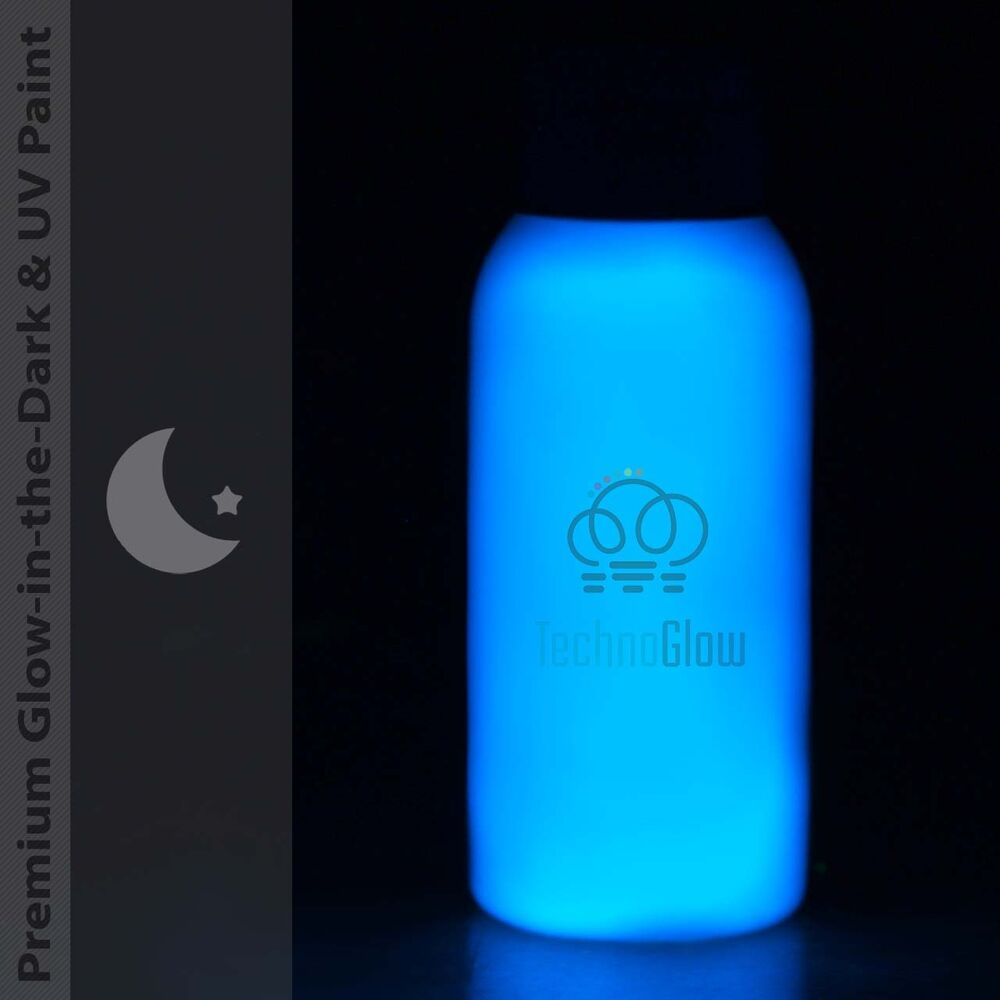 blue glow in the dark uv paint brightest acrylic paint for indoor. Black Bedroom Furniture Sets. Home Design Ideas