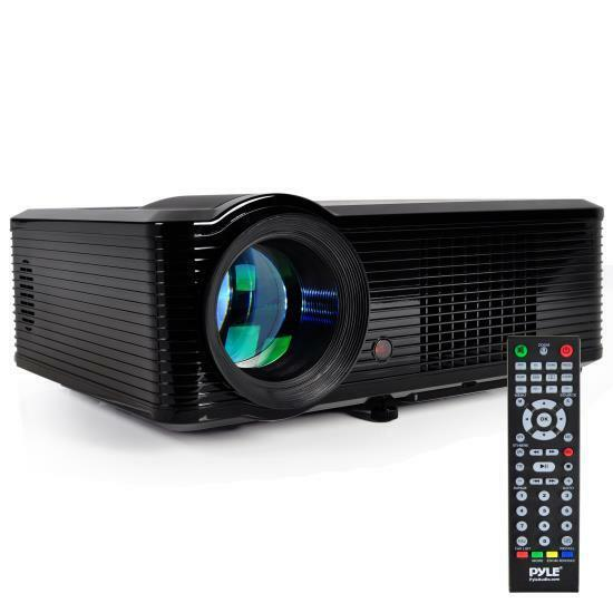 Prjle33 portable led projector for gaming tv shows movies for Best portable projector for movies
