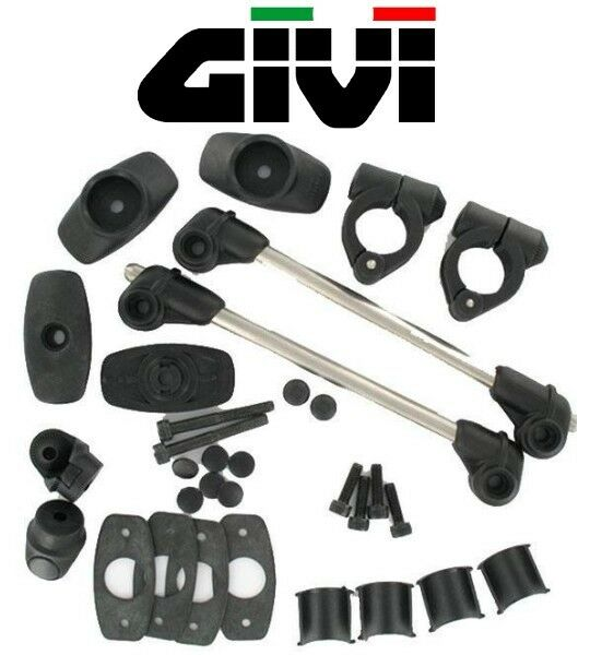 kit fixation pour pare brise bulle givi d40 2 points tige colliers a600 a605 ebay. Black Bedroom Furniture Sets. Home Design Ideas