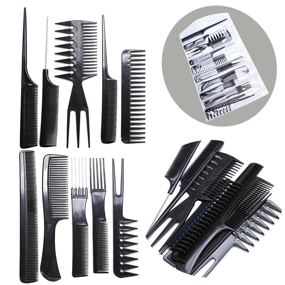hair styling comb 10 hair styling comb set professional black 3449