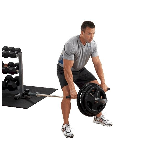 BODY SOLID LANDMINE PIVOTING T-BAR ROW FOR STRENGTH AND