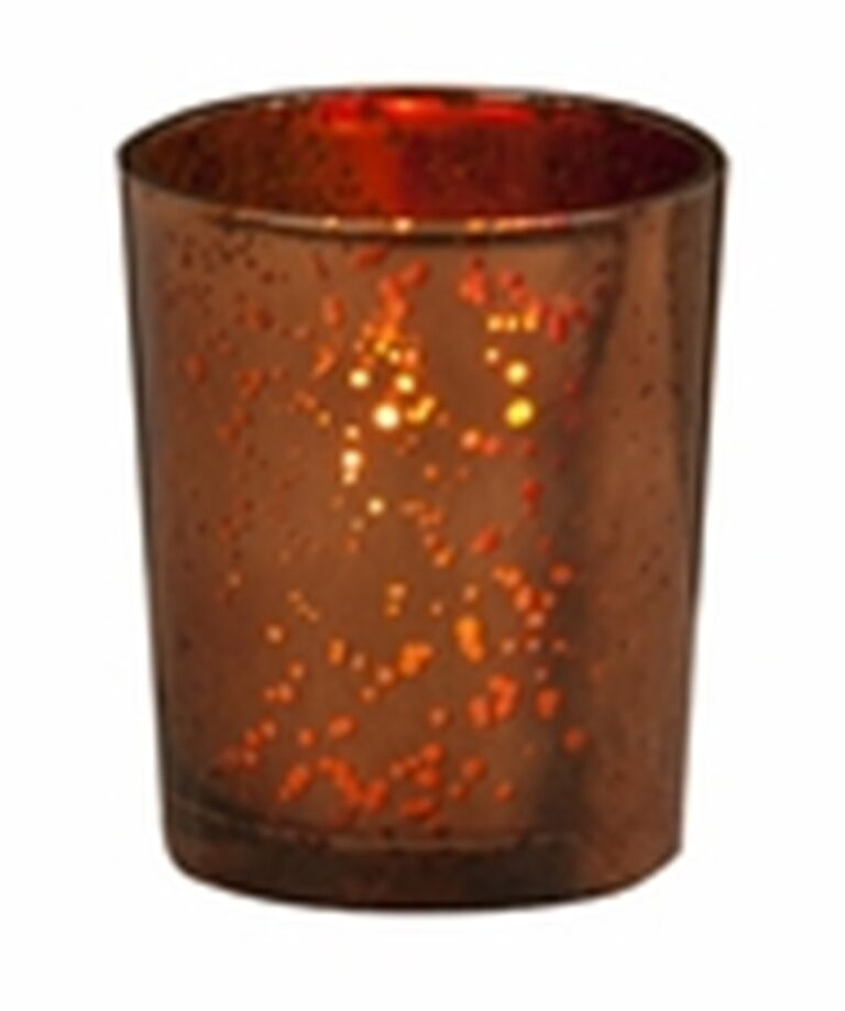 Brown Glass Candle Holder