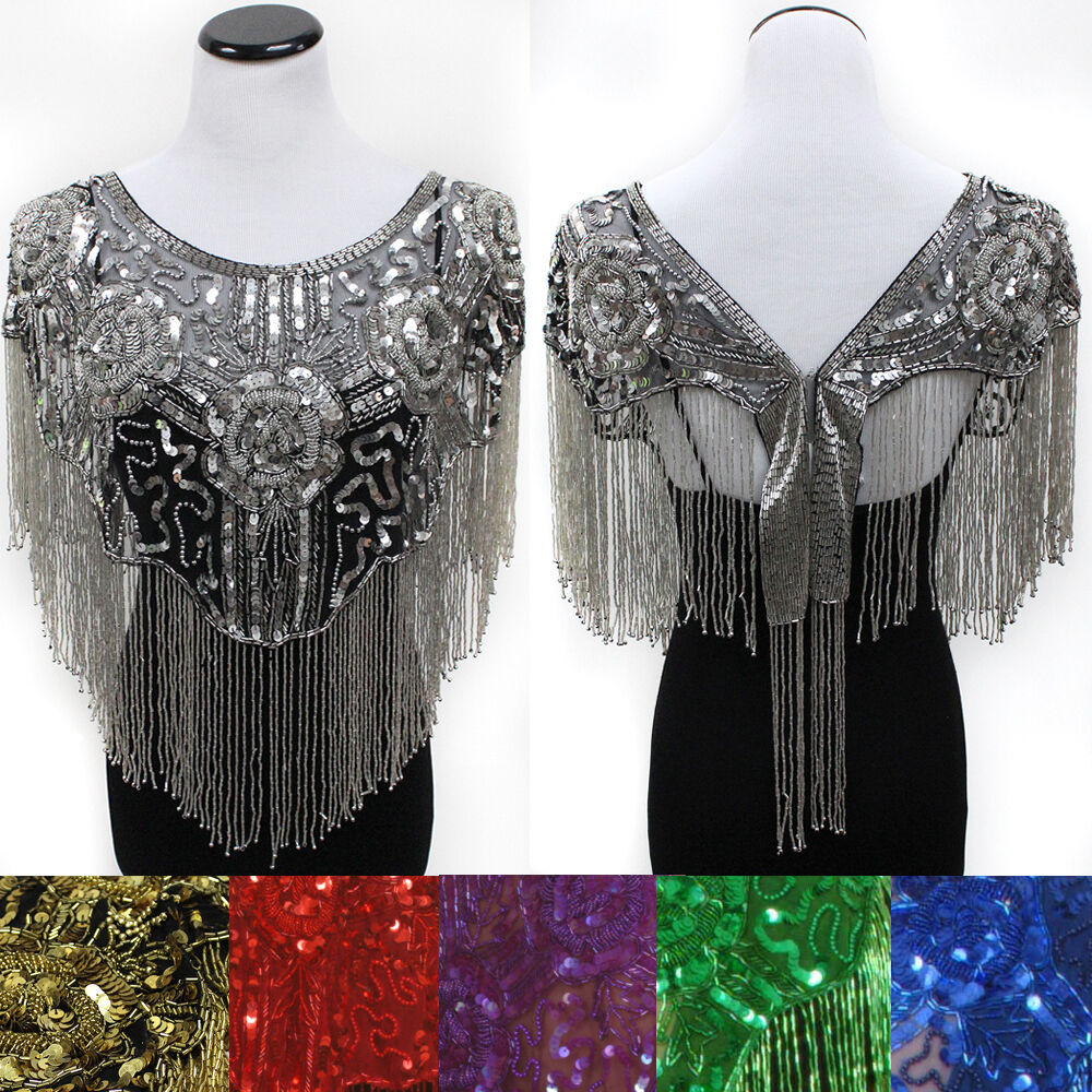 sequin bead shawl flower wedding evening scarf wrap