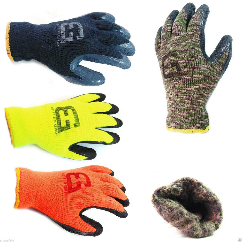 Better Grip Insulated Winter Rubber Coated Gloves Crinkle