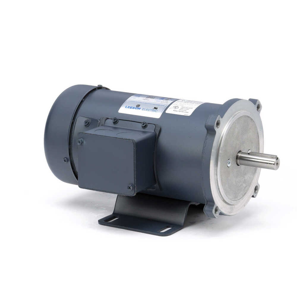 Leeson electric motor c42d17fk1 1 2 hp 1750 rpm for 90 volt dc motor