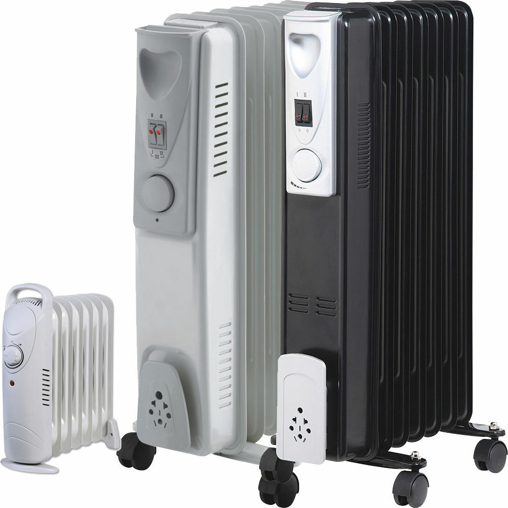 7 9 Fin Oil Filled Portable Electric Radiator Heater