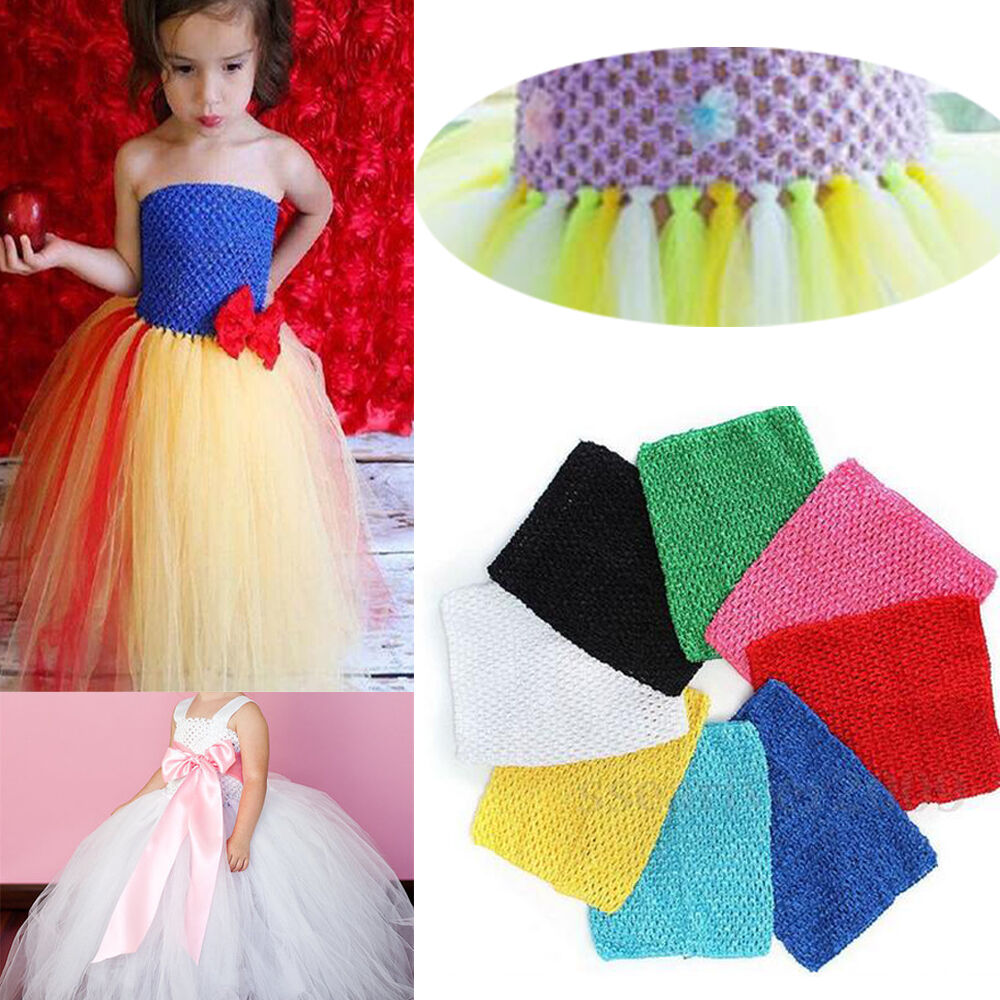 1xpc 9 kids girls crochet lined tutu tube top for diy. Black Bedroom Furniture Sets. Home Design Ideas
