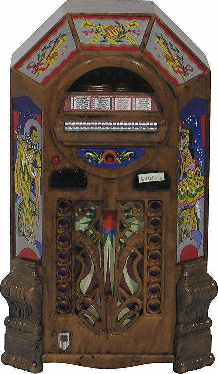 jukebox miniature replica wurlitzer victory 1943 plays. Black Bedroom Furniture Sets. Home Design Ideas